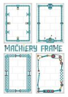 The vertical frame in the style of steampunk vector