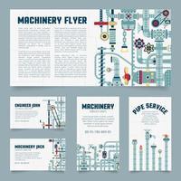 Steampunk business card vector