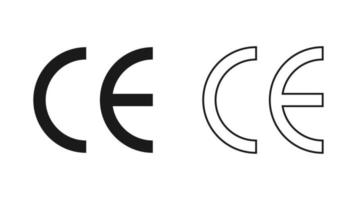 CE mark. CE symbol isolated on white background. vector