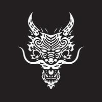 Japanese dragon illustration. Vector graphic for t shirt