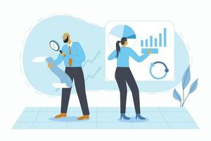 Data analysis business illustration concept vector