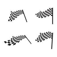 Flag race logo images illustration vector