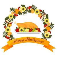 Happy thanksgiving frame vector