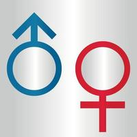 Gender symbol logo of sex and equality of males and females vector