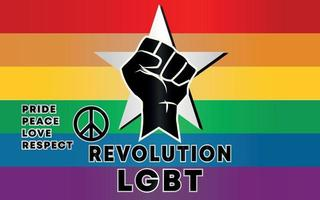 revolución de propaganda nueva bandera del arco iris del orgullo lgbtq vector