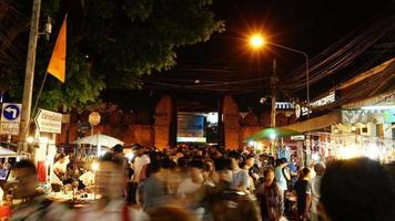 timelapse Chiang Mai walking street in Thailand video