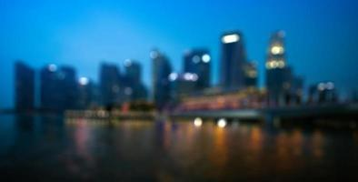 City and Building Sunset blurred background photo