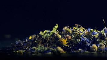 Herbs tea of lemon balm, cornflower video