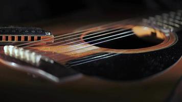 akoestische gitaar met country blues mondharmonica video