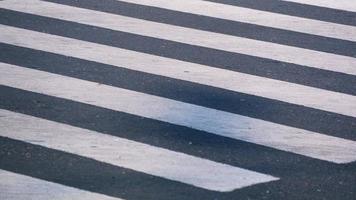 Pedestrian crossing on empty city street, closeup photo