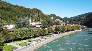 The Brembo river in San Pellegrino Terme video