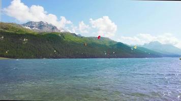 kitesurf sur le lac de silvaplana en engadine video