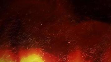 Cinematic theme with red hot lava and motion camera on dark background video