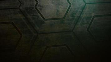 Cinematic background with shapes of spaceship and motion camera video