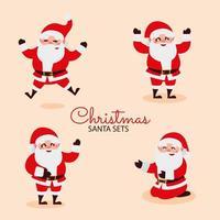 merry christmas greeting card santa cartoon celebration vector
