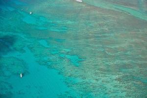 Aerial shot of waikiki beach honolulu hawaii photo