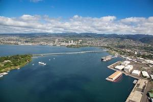 Aerial view of Pearl Harbor photo