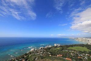 The view from Diamond Head Hawaii photo