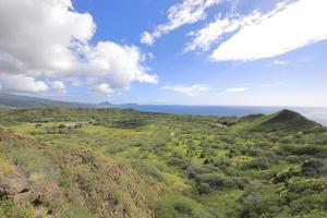 View of Diamond Head's crater hawaii photo