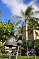 A tiki torch at waikiki beach hawaii photo