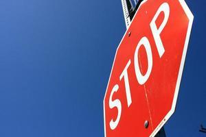señales de tráfico americanas, señales de alto foto