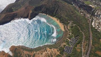 Aerial Shot of Hanauma Bay Hawaii photo