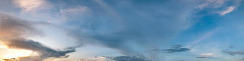 Dramatic panorama sky with cloud on sunrise and sunset time photo