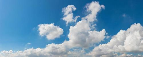 Vibrant color panoramic sky with cloud on a sunny day photo