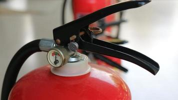 Fire extinguishers available in fire emergencies, photo