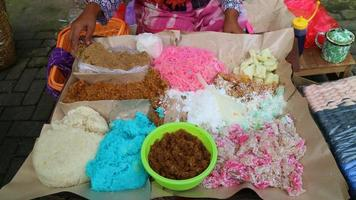 Traditional food from Java sold in the market photo