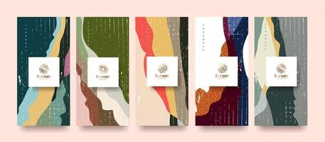 Vector set packaging templates japanese