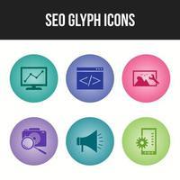 icono de vector de línea seo para uso personal y comercial
