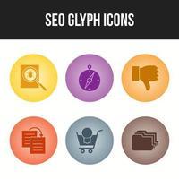 iconos de seo y negocios para uso comercial vector