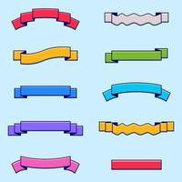 Set of Ribbon elements vector