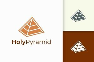 Triangle pyramid logo in simple and modern shape fit for tech company vector