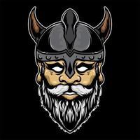 Viking warrior illustration vector