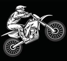 diseño de motocross vintage vector