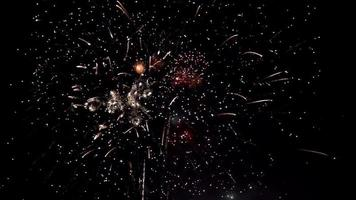 Fireworks 4k animation shining fireworks with bokeh lights video