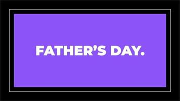 Animation text Fathers day on purple fashion and minimalism background video