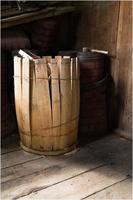 Barrel in old mill photo