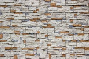 Rustic stone surface in random pattern photo