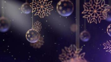 4K Merry Christmas concept animation with Cute animation video
