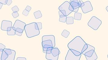Motion geometric blue squares on abstract background video