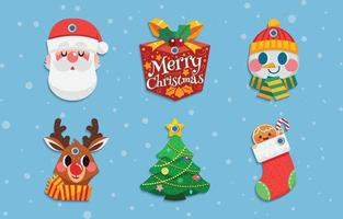 Chistmas Gift Labels Pack vector