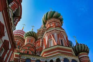 St. Basil's Cathedral at famous Red Square in Moscow photo