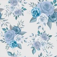 Beautiful blue flower seamless pattern vector