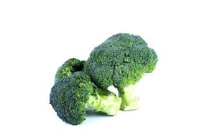 Close up of broccoli vegetable on white background photo