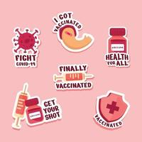 etiqueta engomada de la vacuna covid 19 vector
