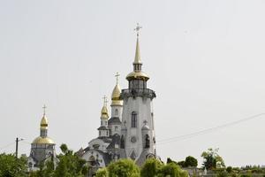 Tower of a Christian church photo