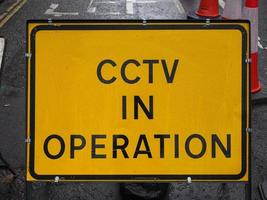 CCTV in operation sign photo